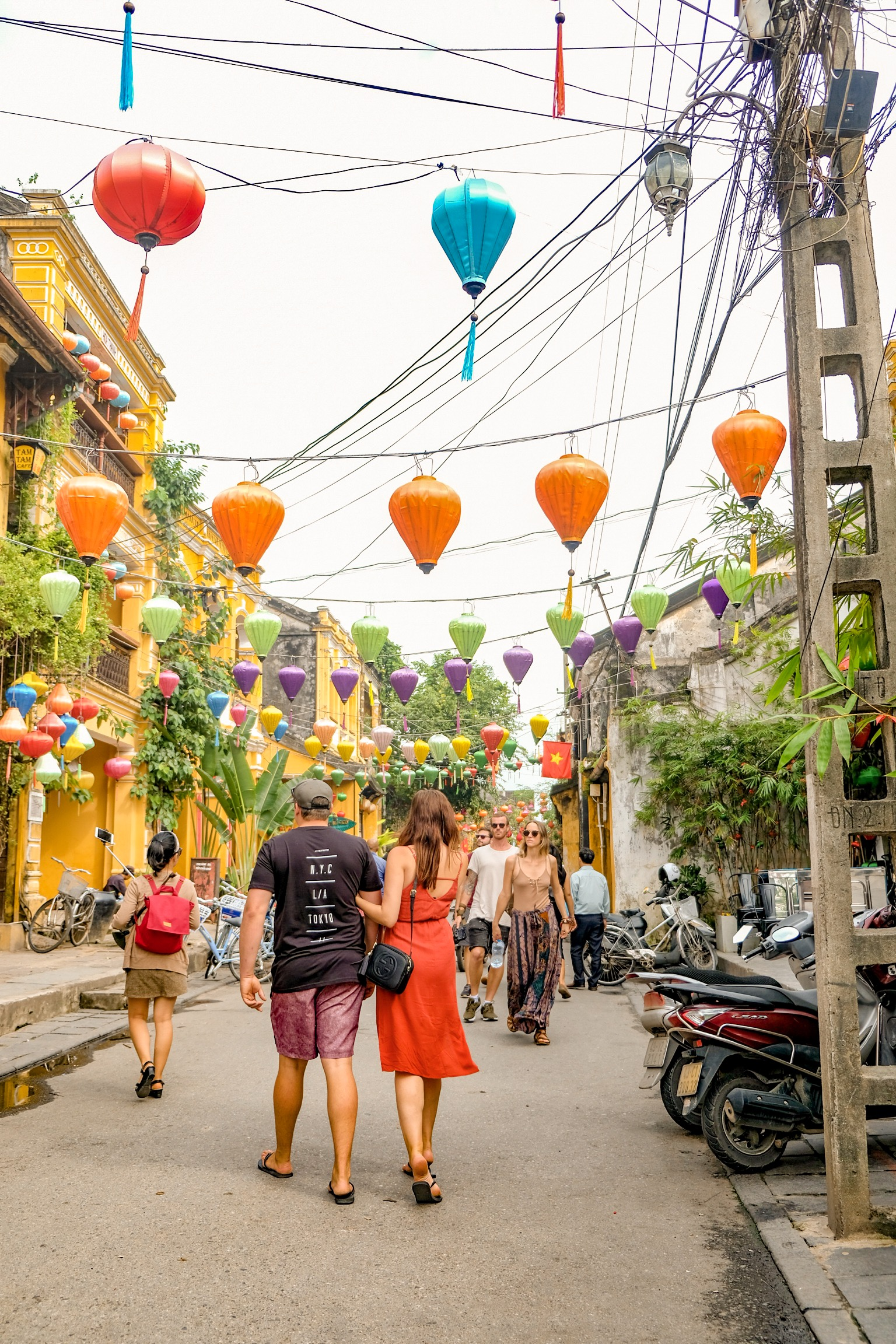 walking through the streets of hoi an ancient town