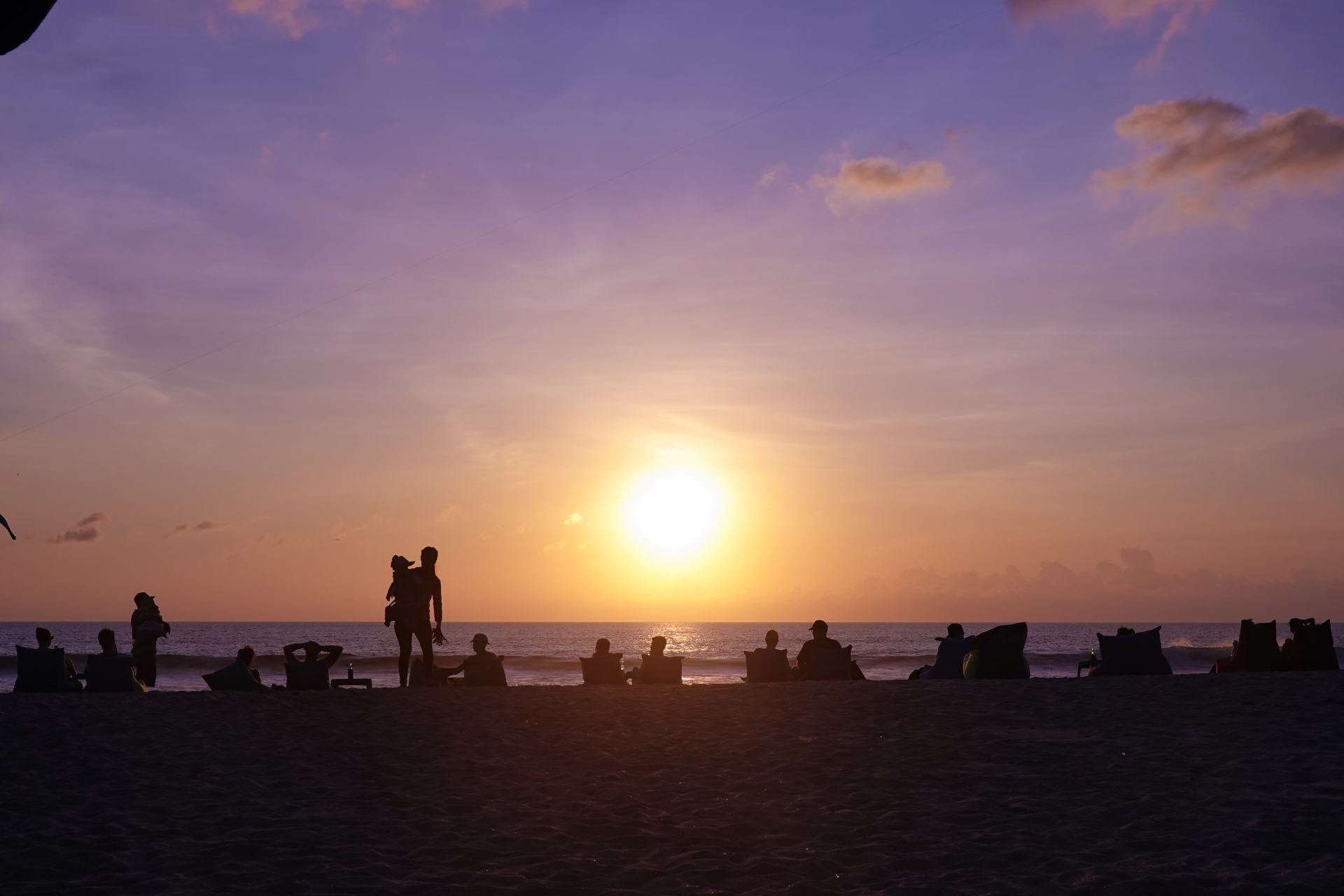 sunsets in legian