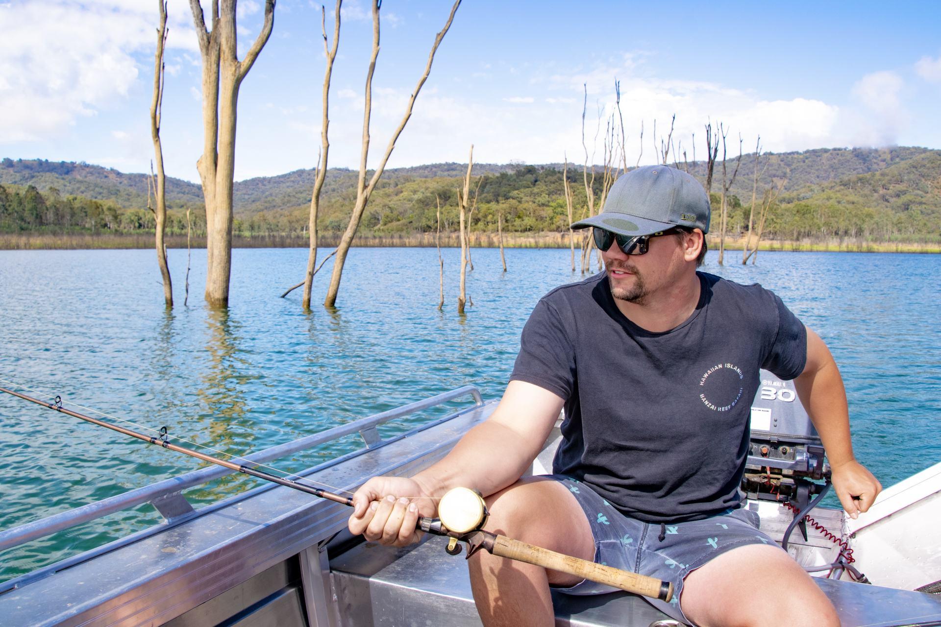 fishing at lake eildon