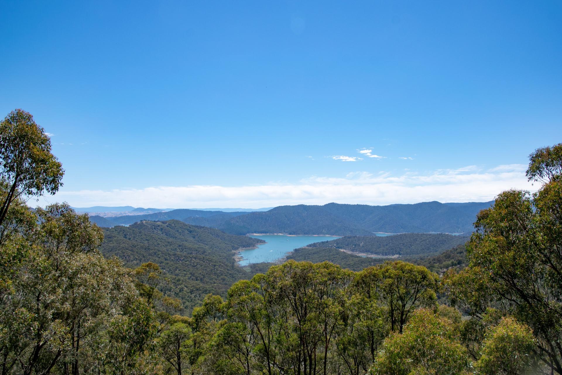 views over lake eildon
