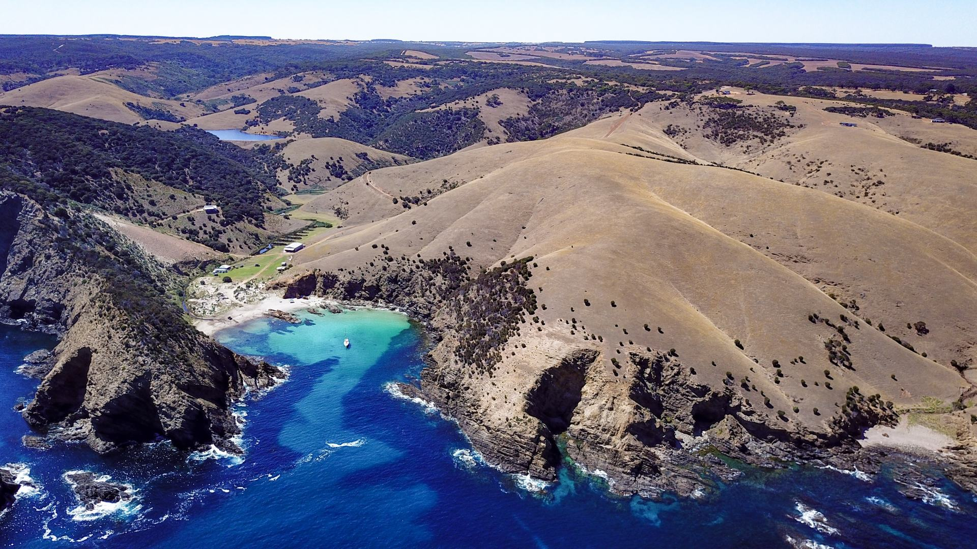 kangaroo island aerial shot