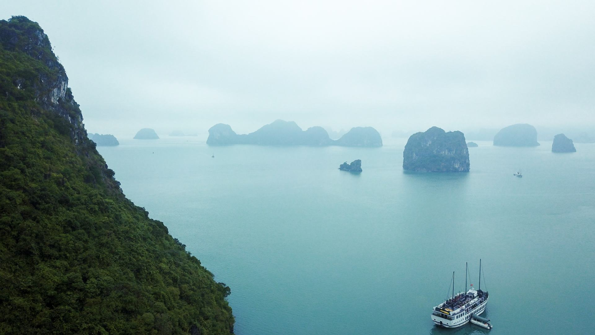 misty mornings on ha long bay