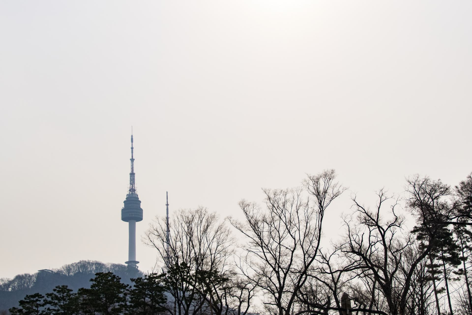 n seoul tower from a distance