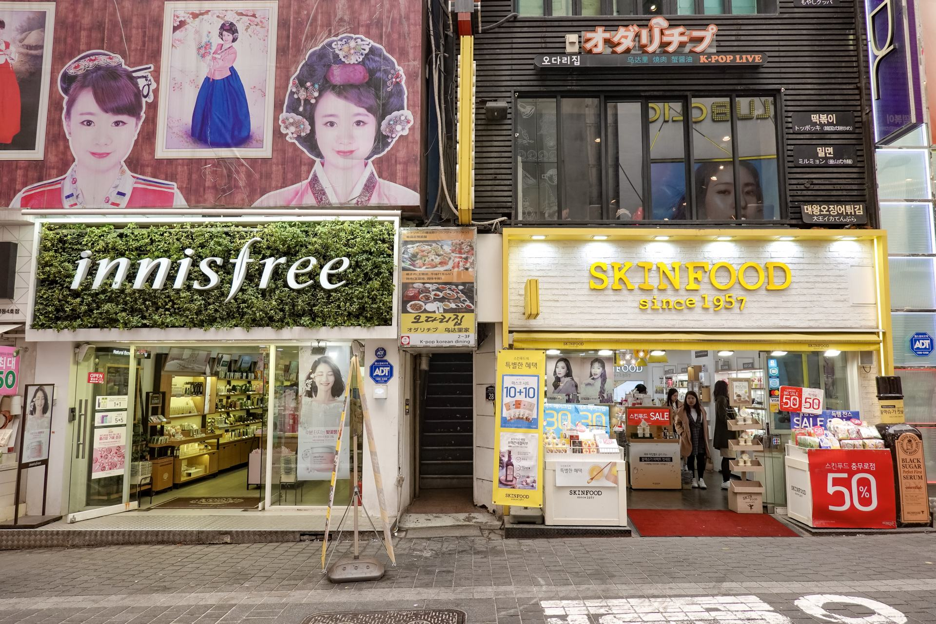shopping in myeong-dong