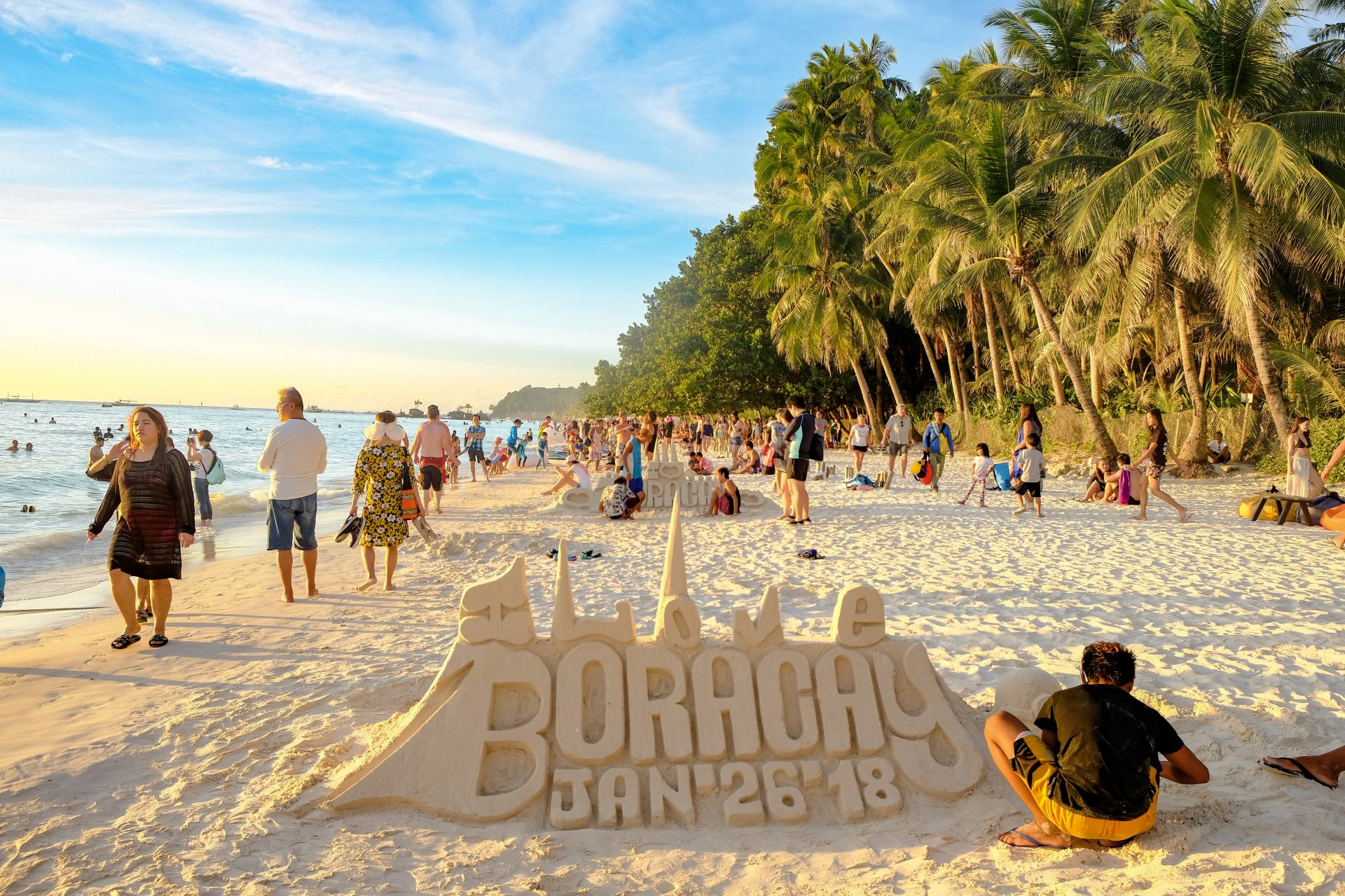sandcastles on boracay white beach