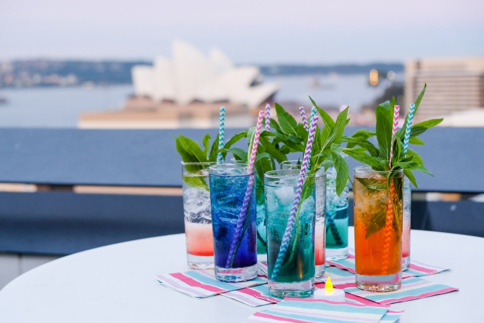 cocktails on the roof of yha sydney harbour