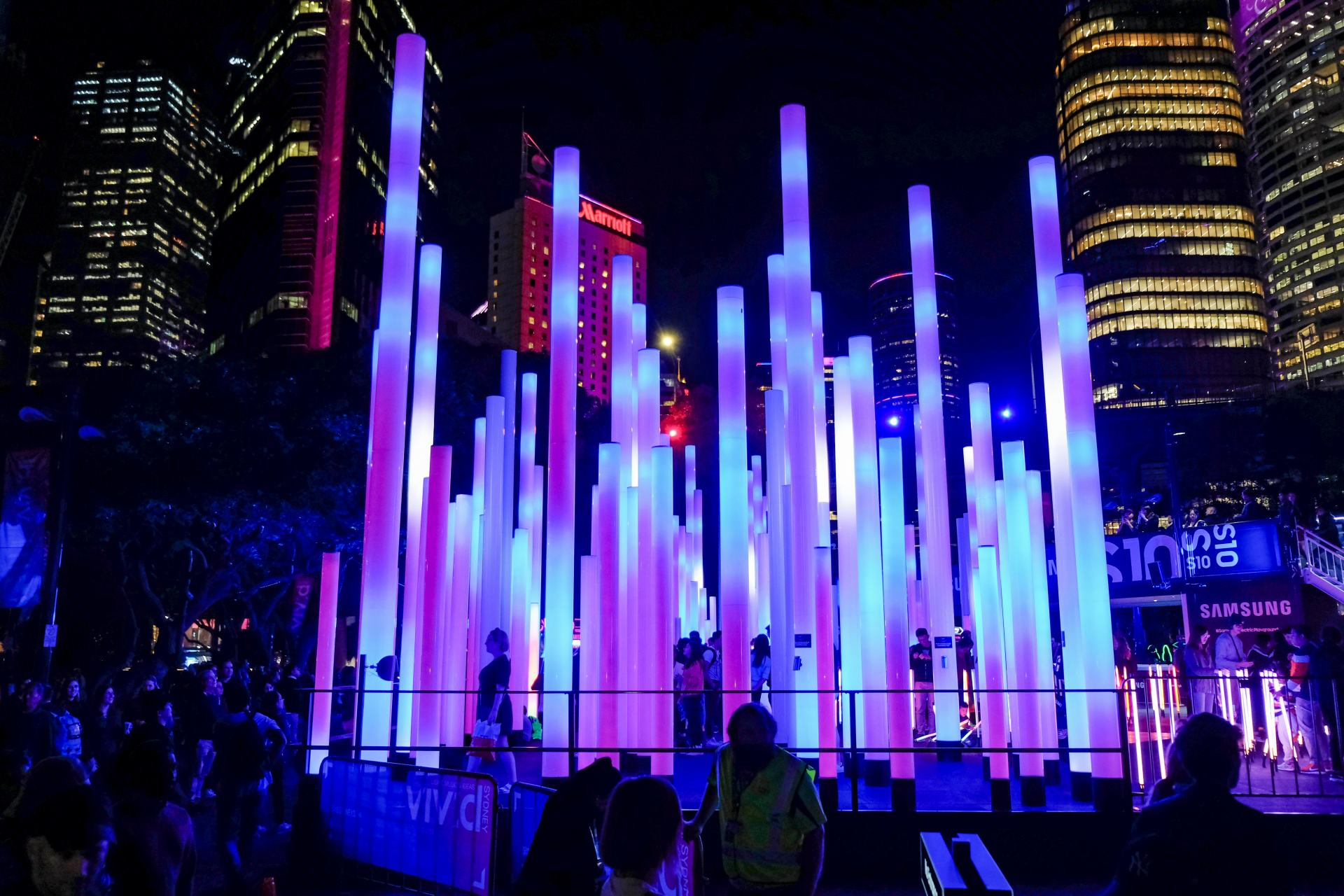 samsung electric playground vivid sydney