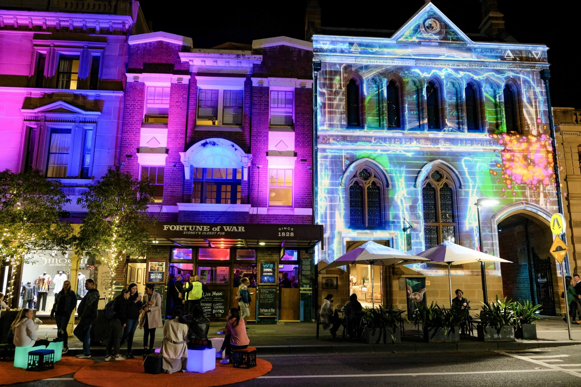 vivid sydney in the rocks