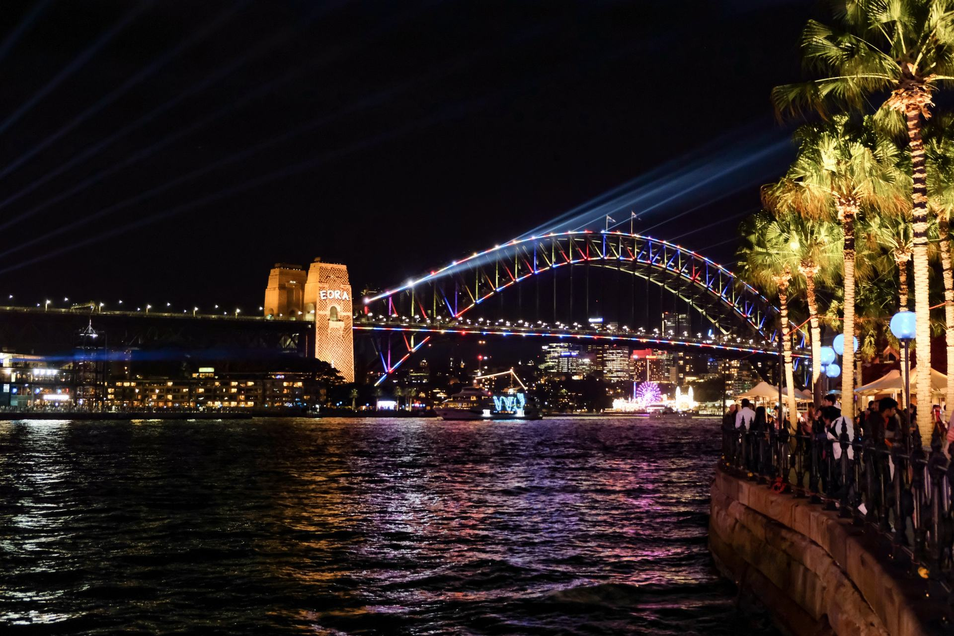 sydney harbour bridge during vivid sydney