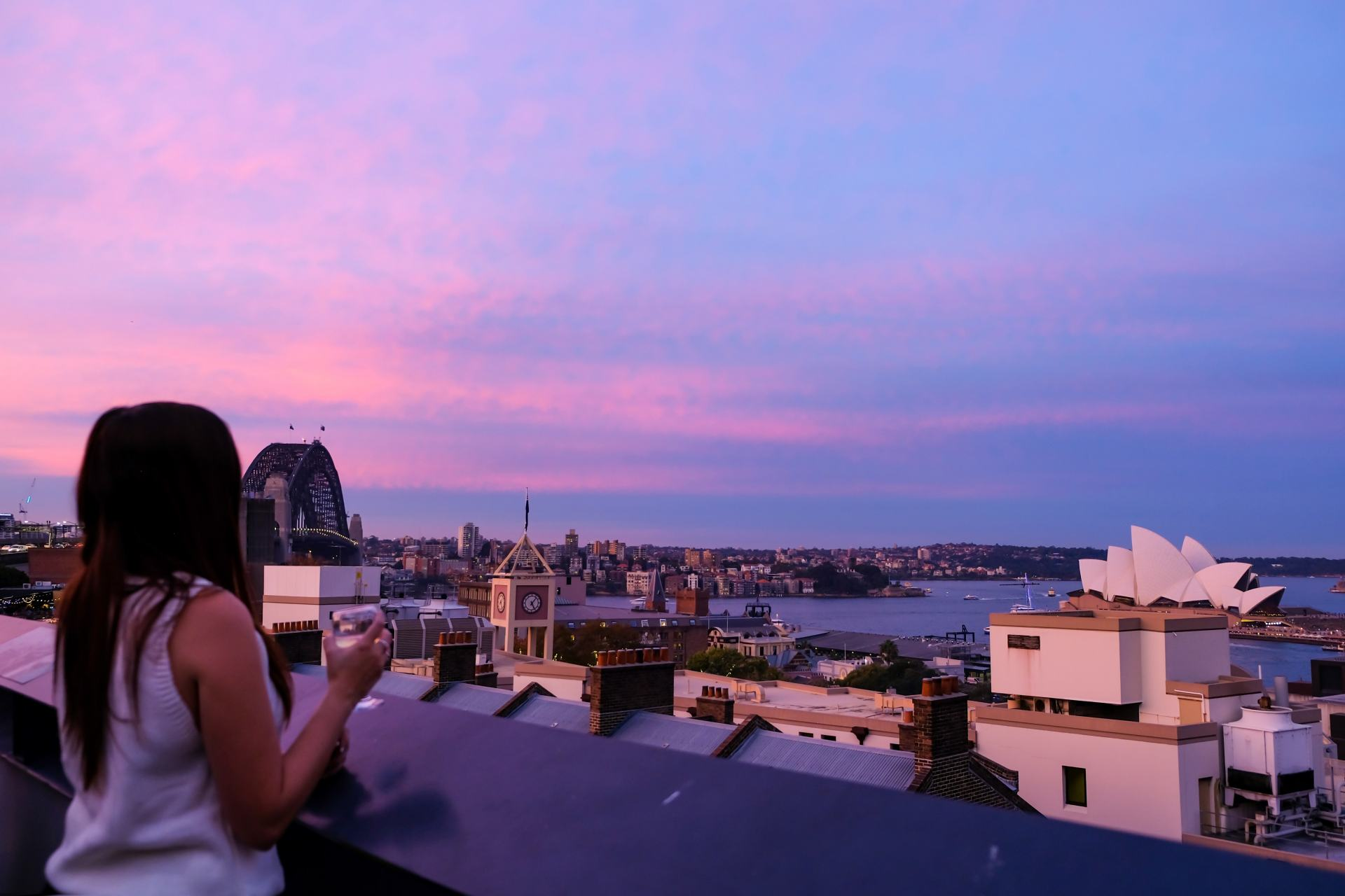 view from yha sydney harbour