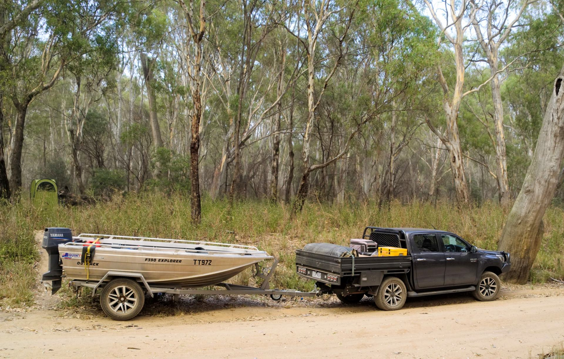 hilux and boat