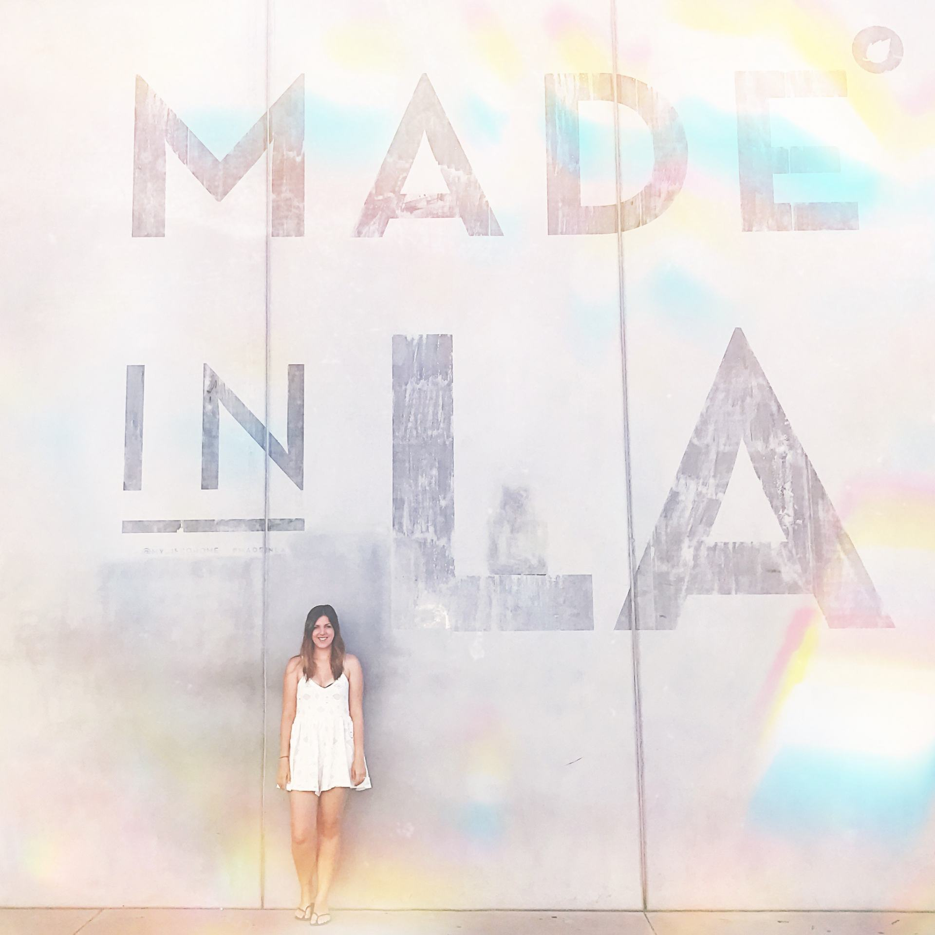 made in la graffiti wall