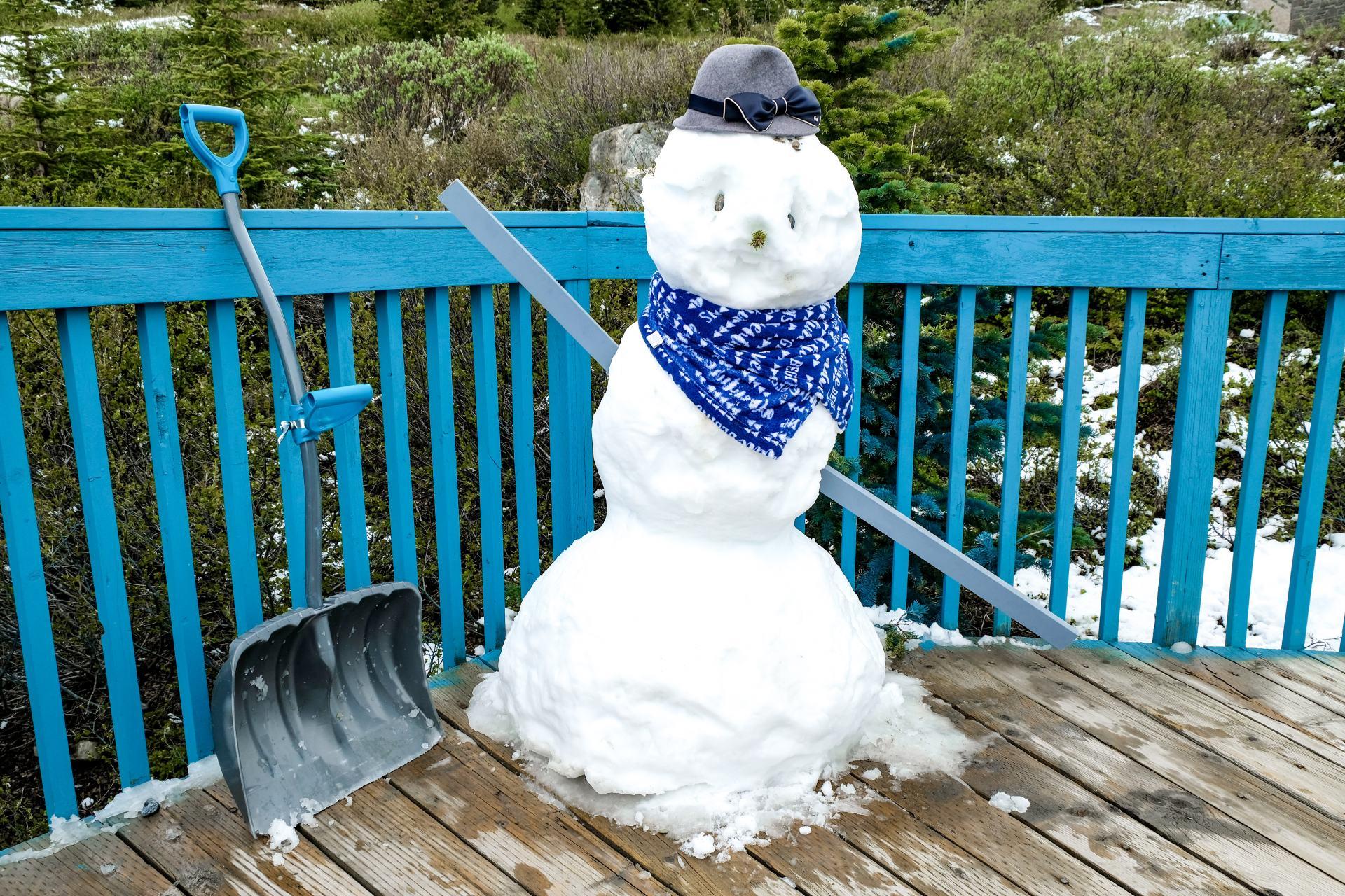 snowman in banff