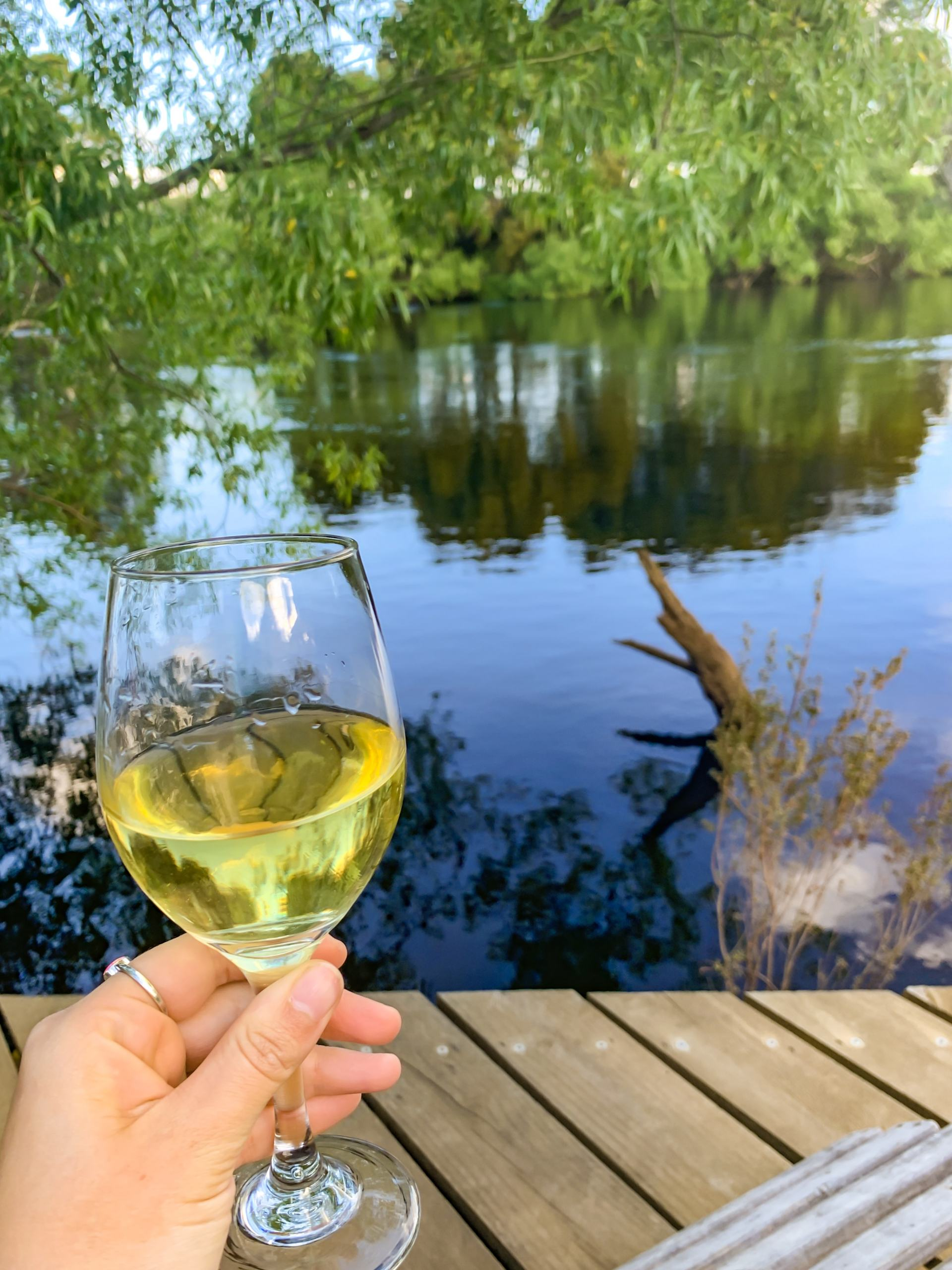 wine on the derwent river