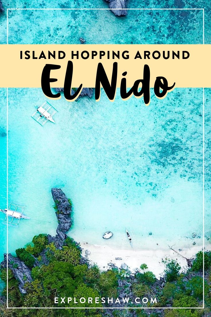 island hopping around the islands of el nido