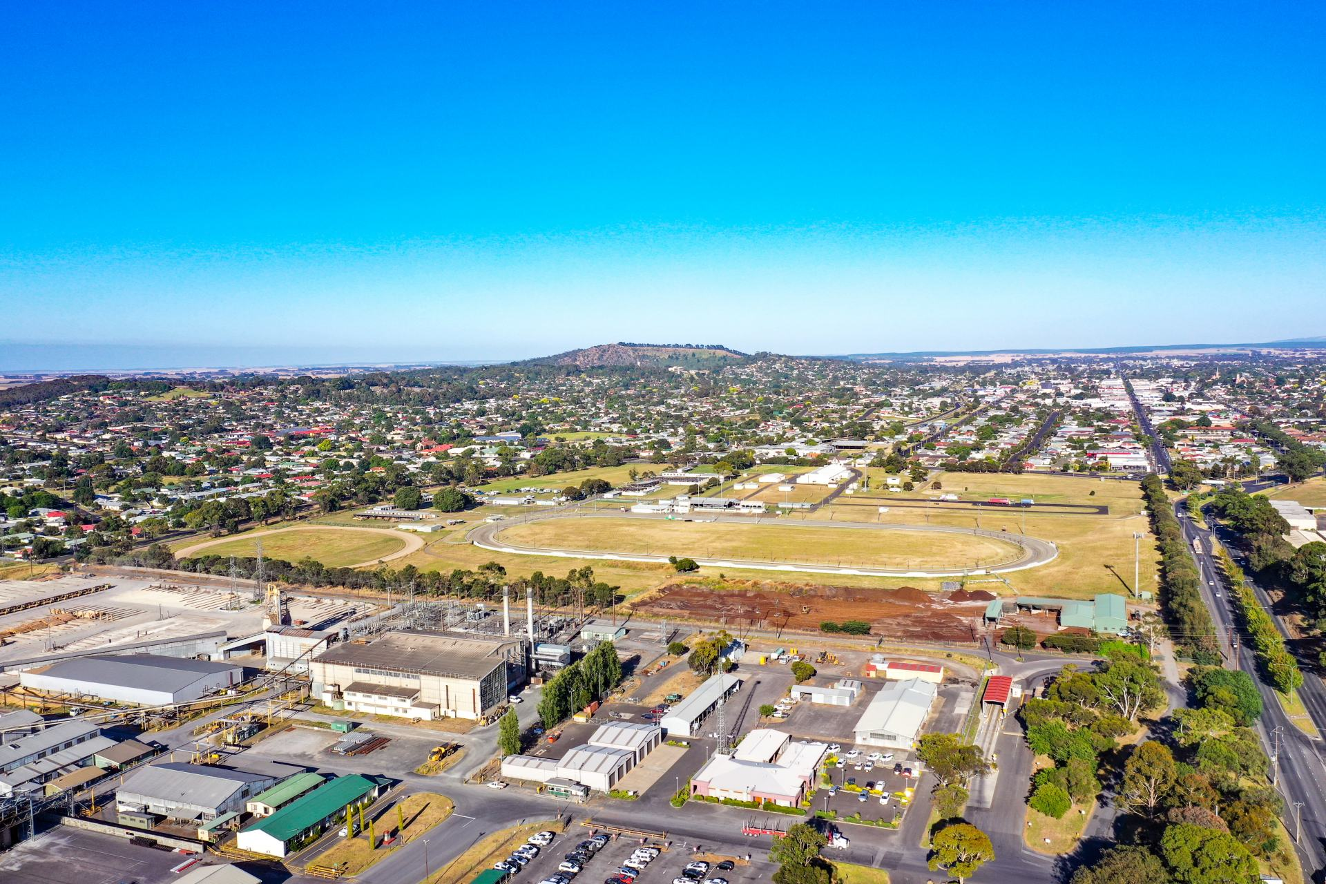 views over mount gambier