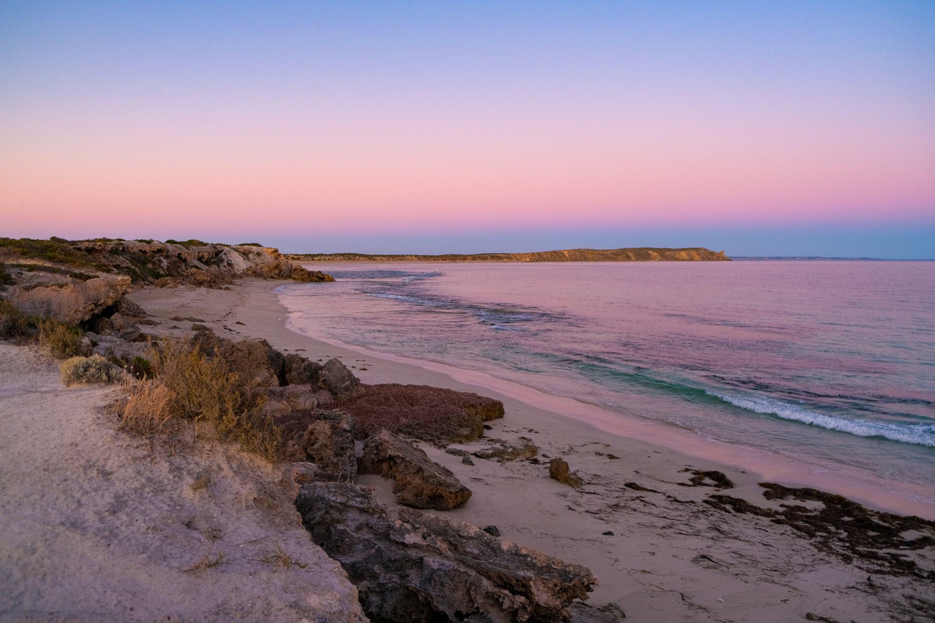 sunset in innes national park