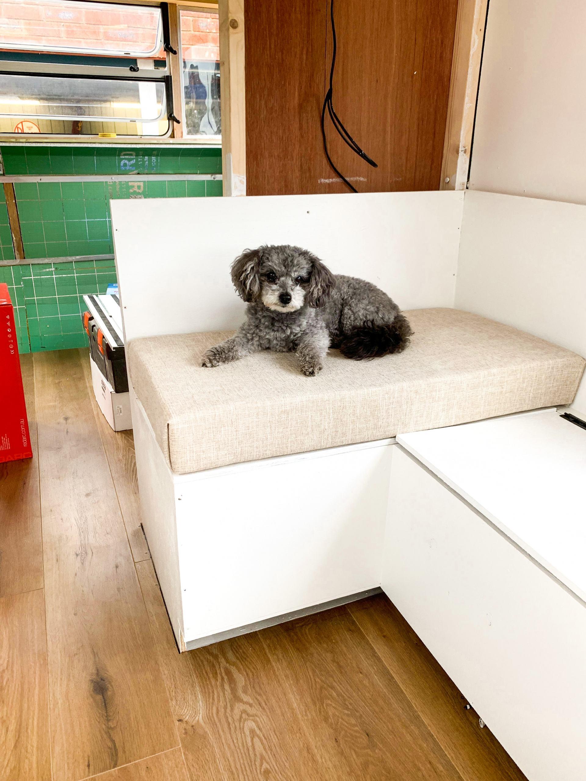 test caravan cushion