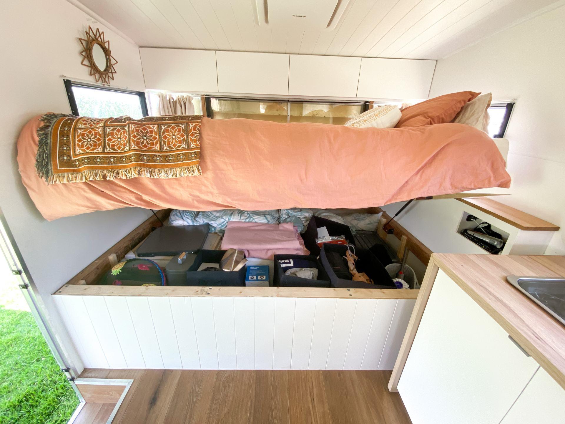 under the van bed