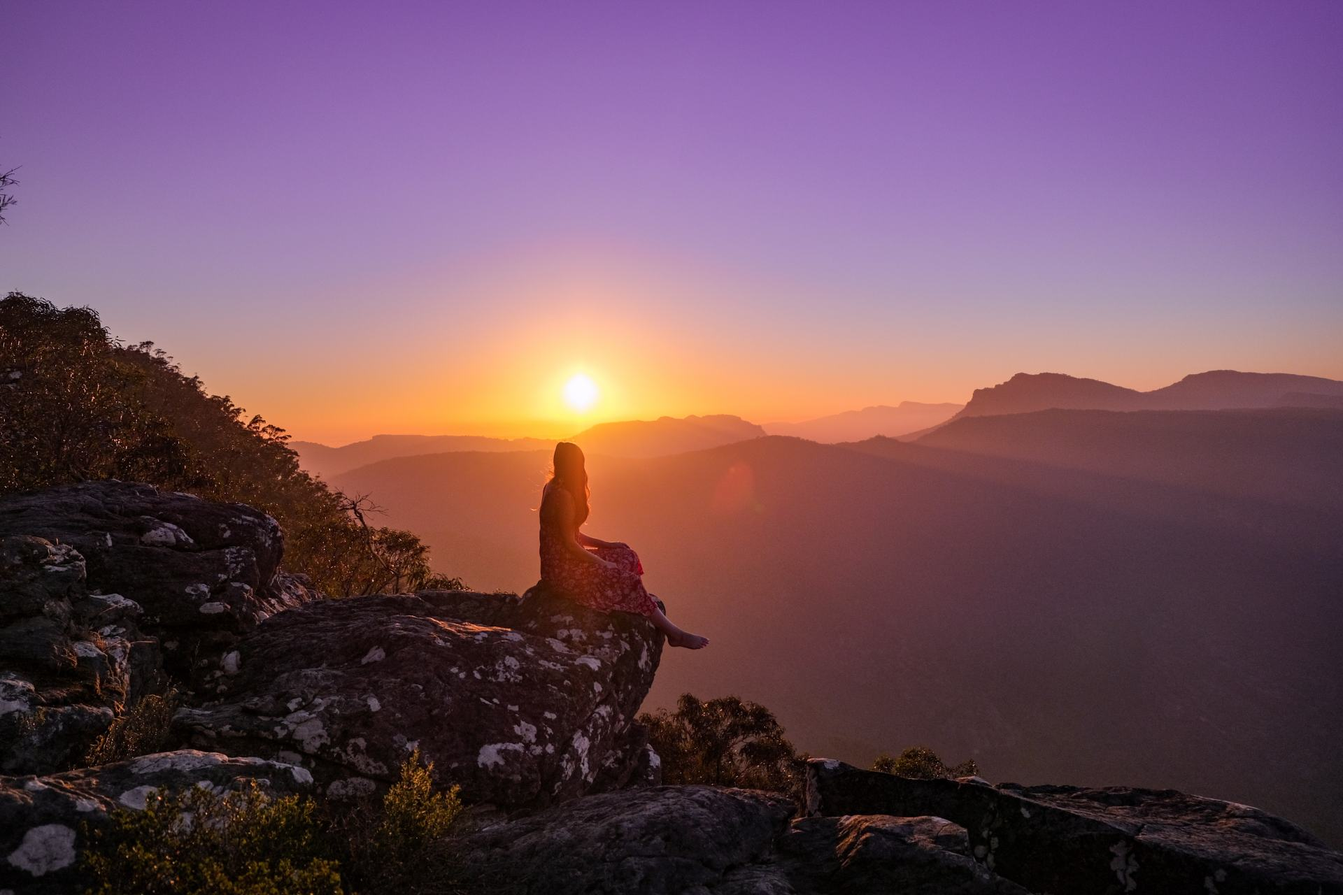 grampains at sunrise
