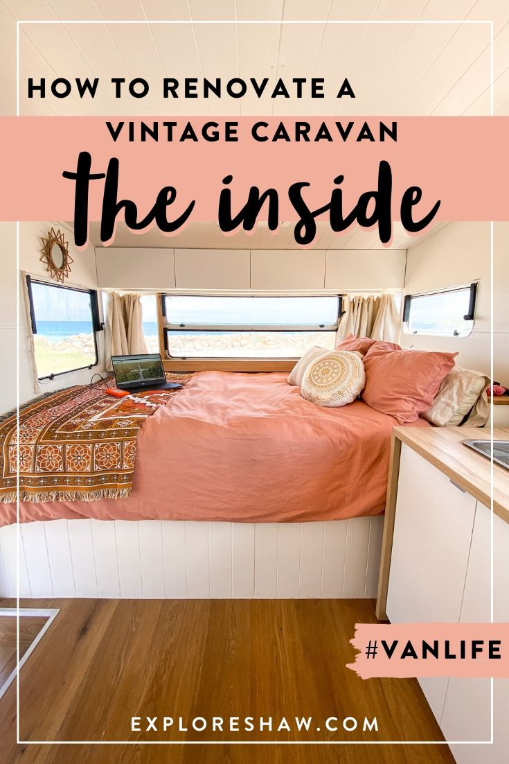 how to renovate a vintage caravan - the inside