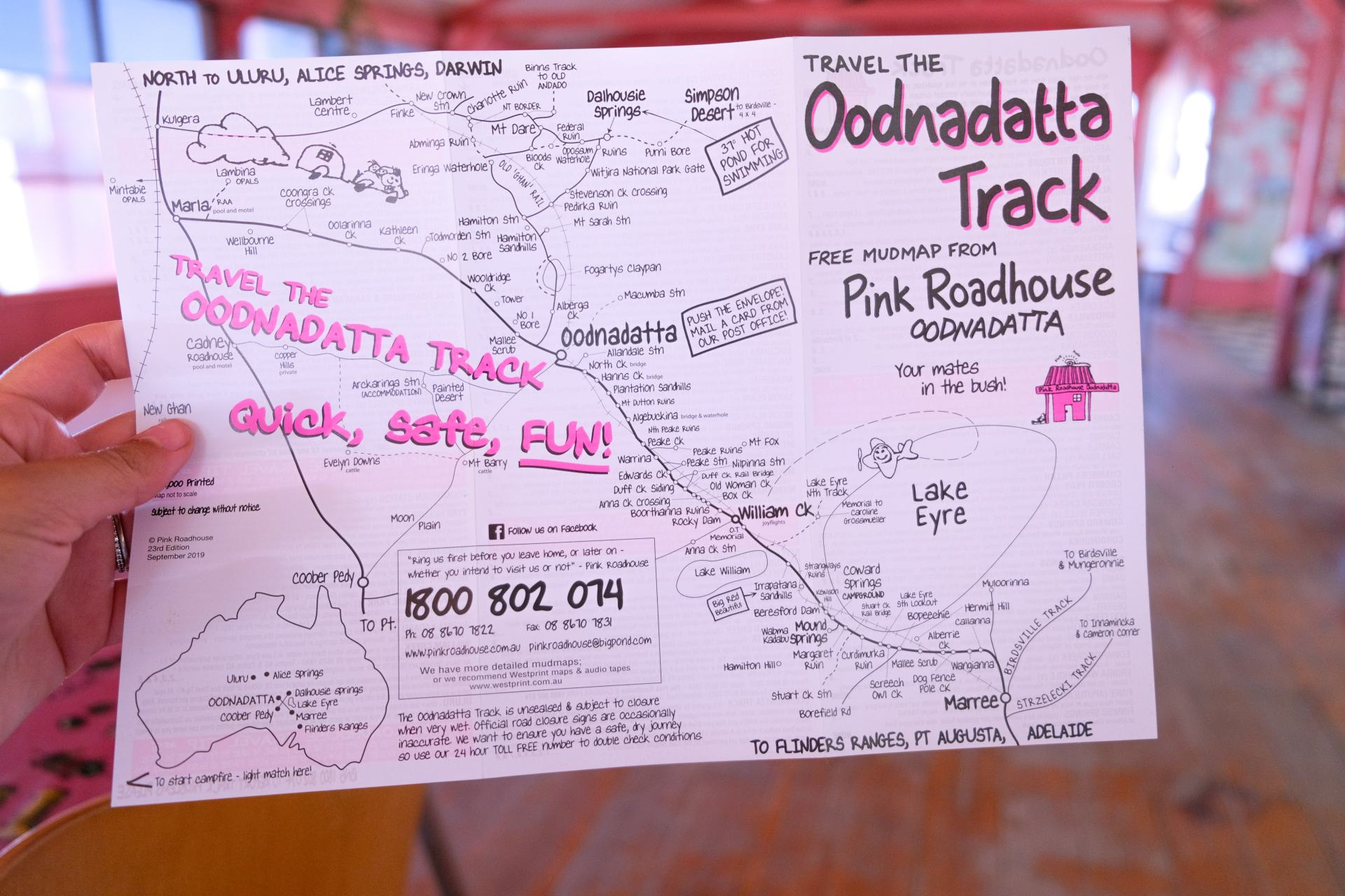 pink roadhouse mud map
