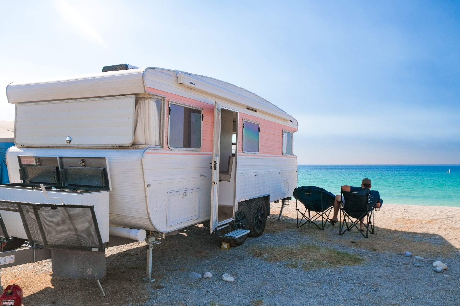 caravan on the beach