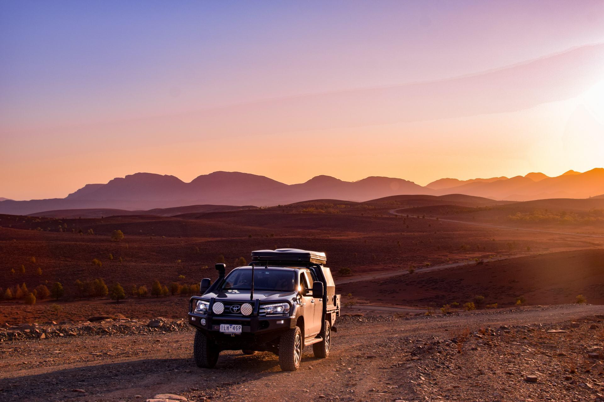 flinders ranges at sunset