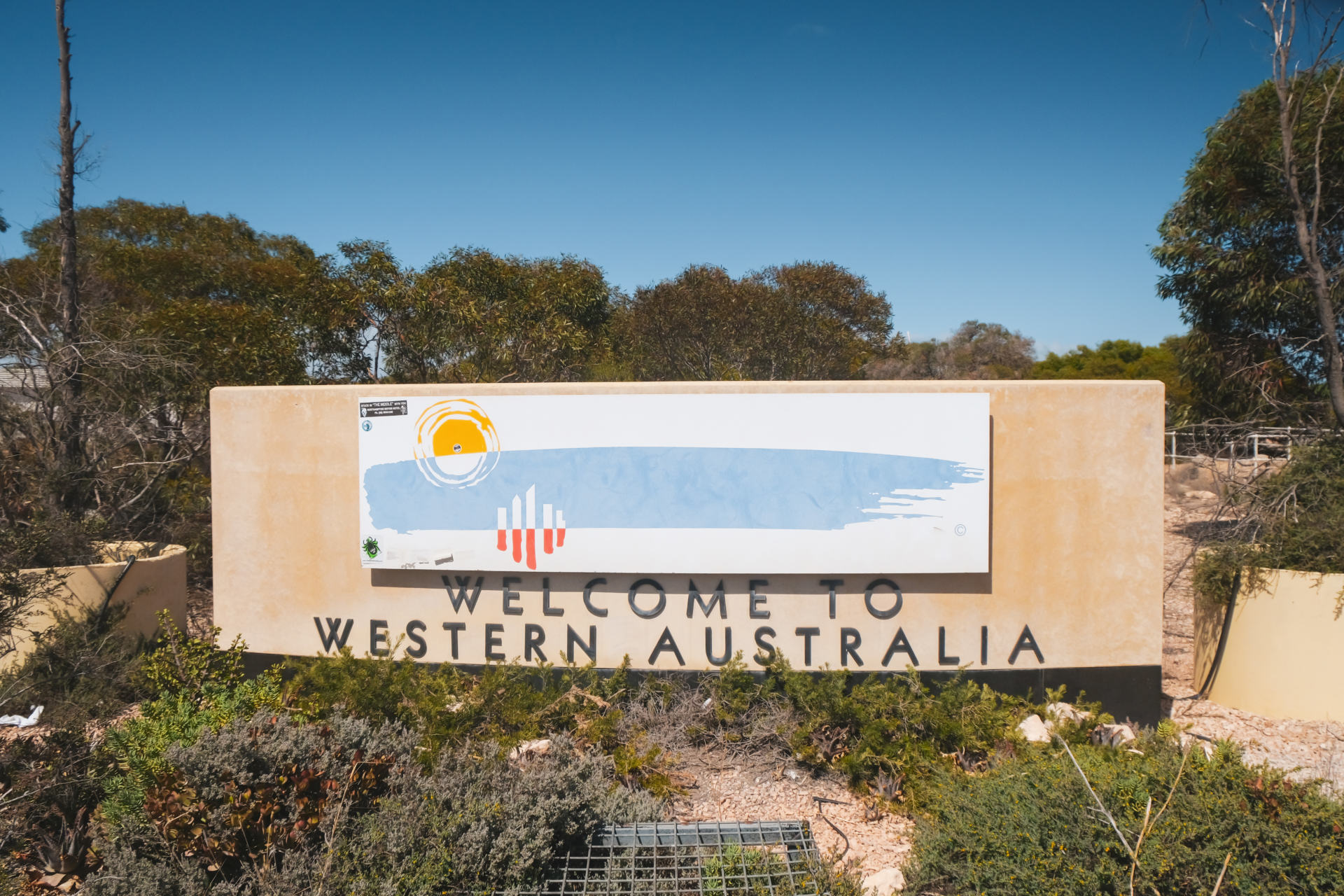 welcome to western australia sign