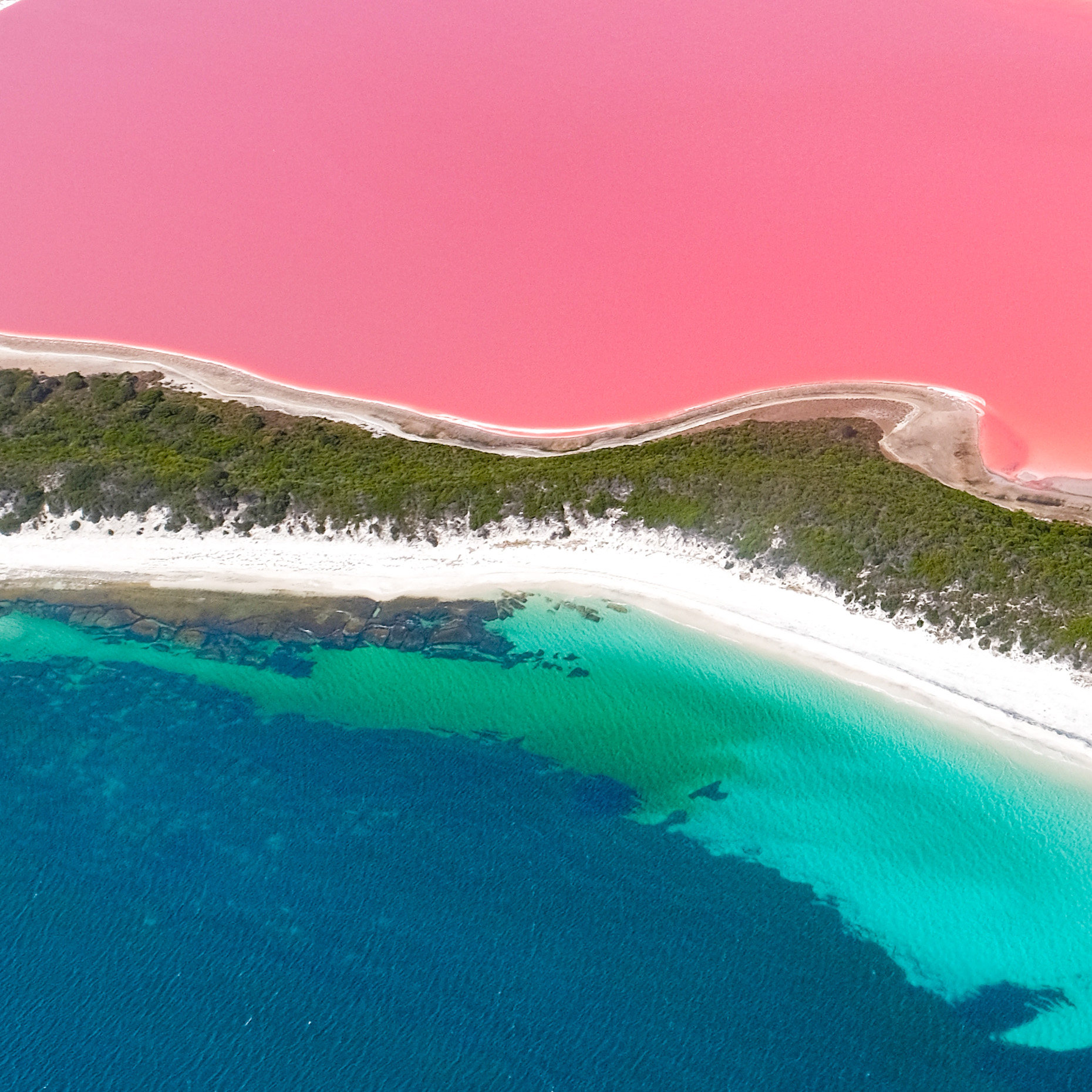 A Scenic Flight Over The Pink Lake In Esperance