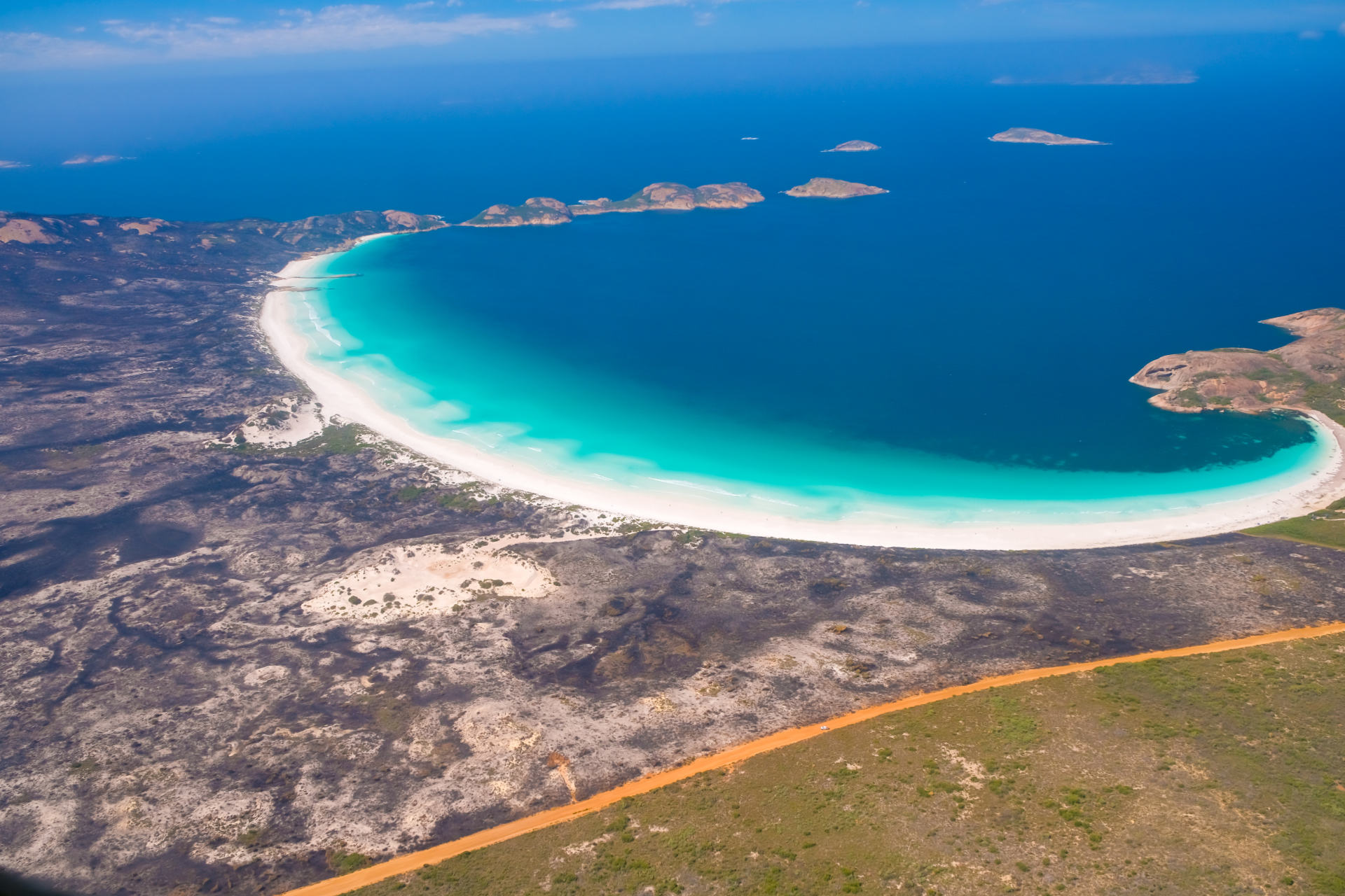 lucky bay from a scenic flight