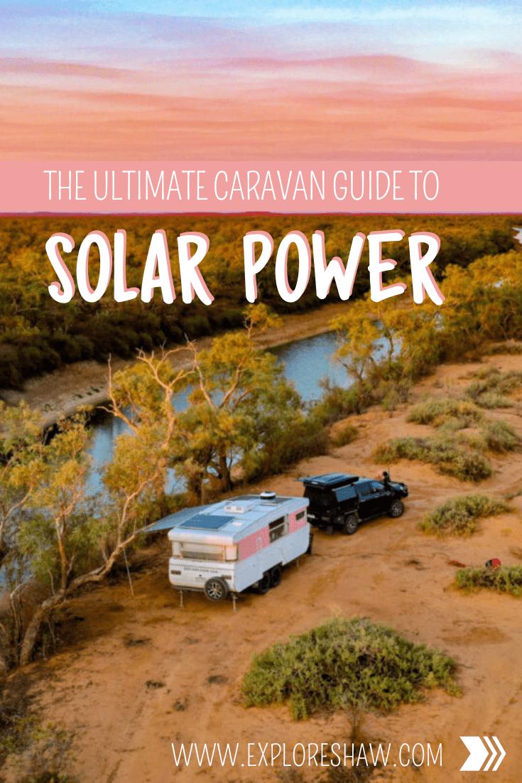 caravan solar set up
