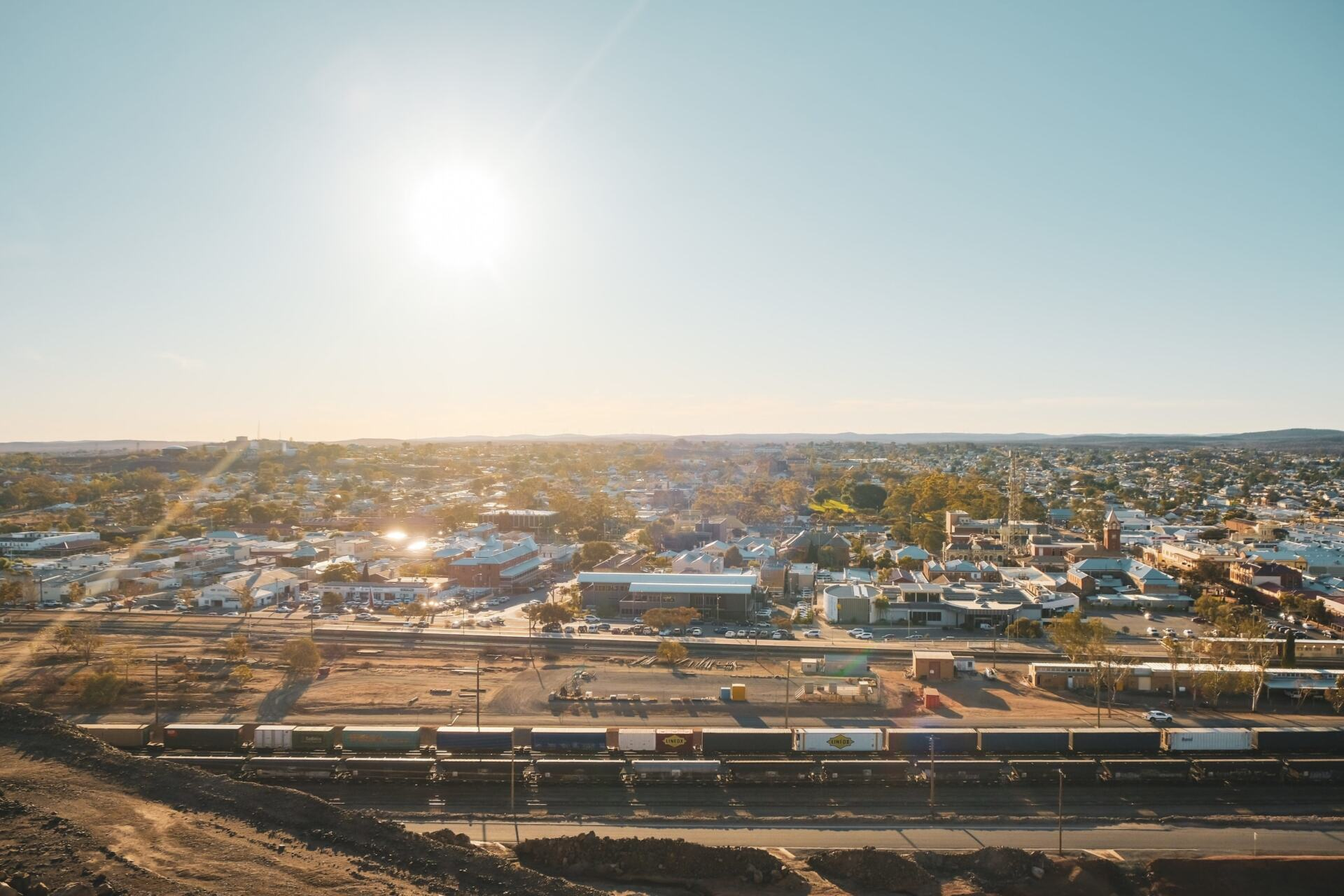 views over broken hill