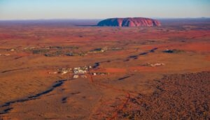 ayers rock resort from above