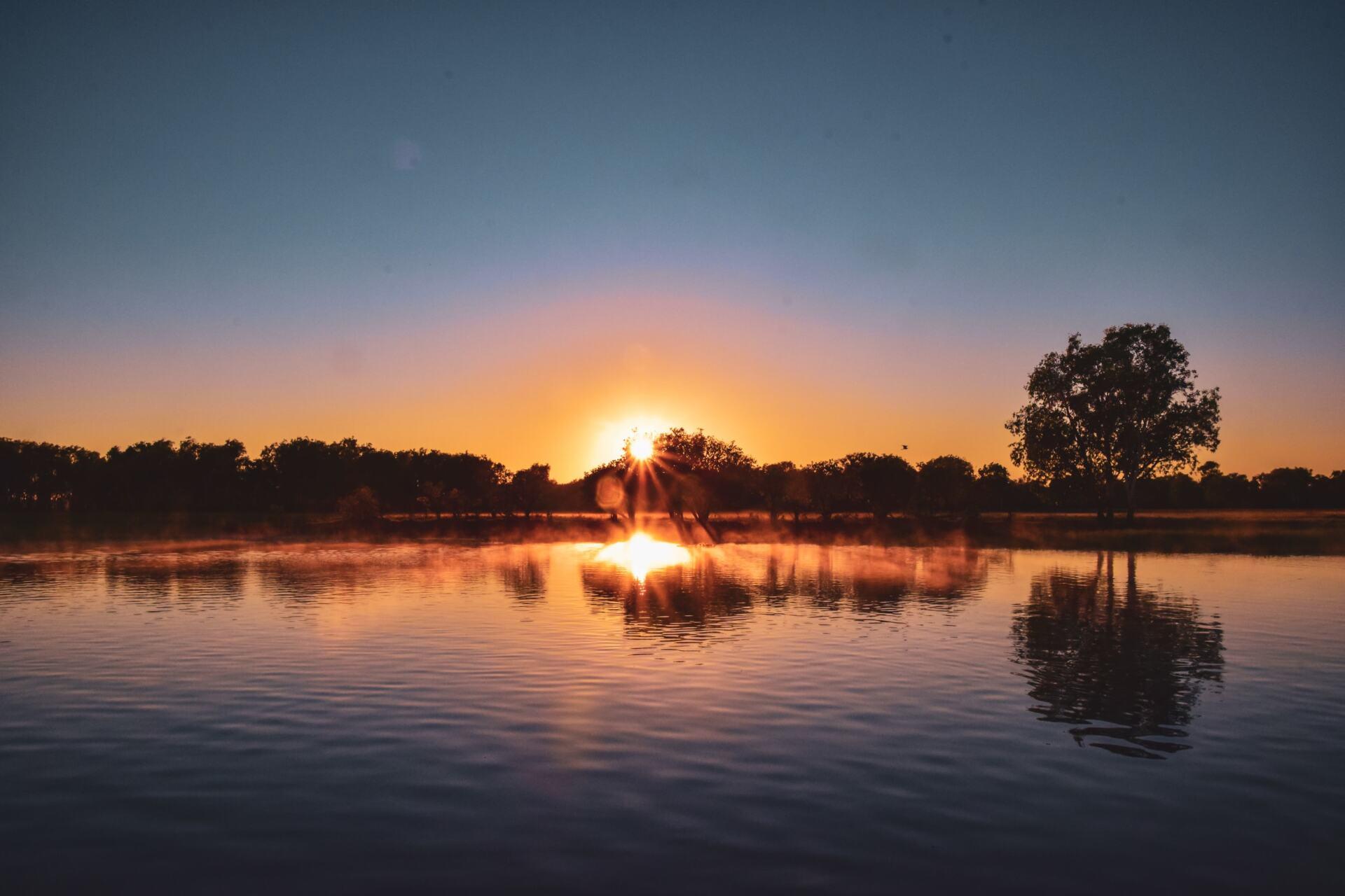 yellow water sunrise