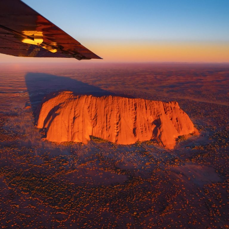 scenic flight over uluru
